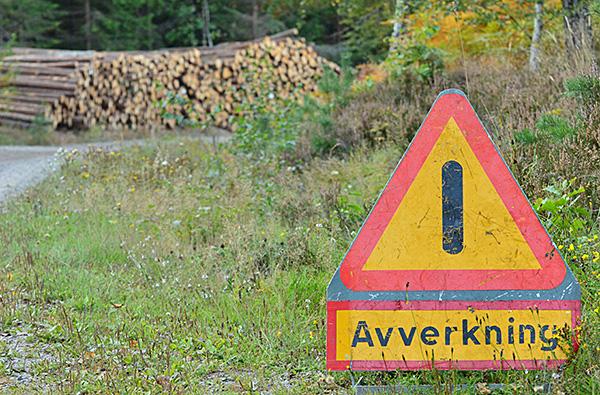 När jag mötte av den här skylten på skogsvägen fick jag onda aningar