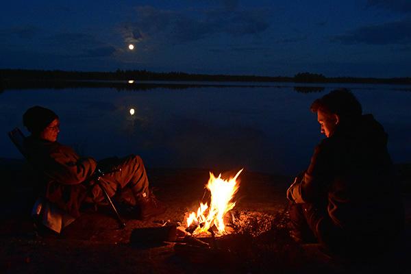Grillning i fullmånens ljus