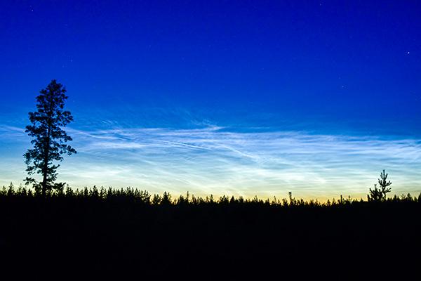 Nattfotografering av kometen Neowise